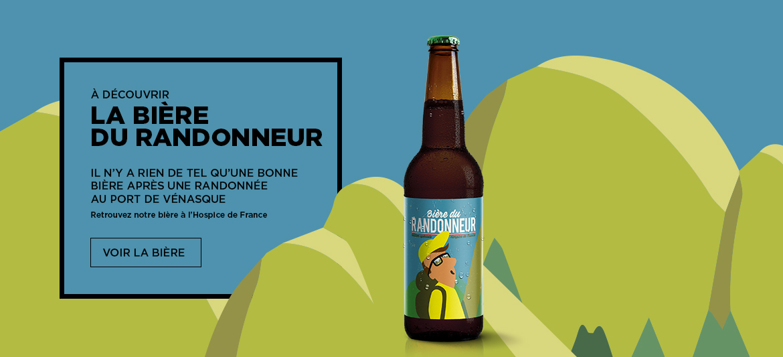 Bière du randonneur - Hospice de France - BRASSERIE DU VENASQUE - MONTAUBAN DE LUCHON