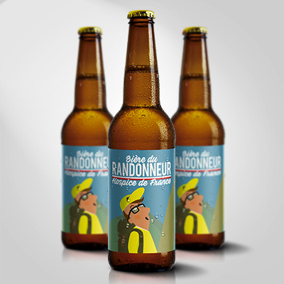 BIERE DU RANDONNEUR bière blonde artisanale -BRASSERIE DU VENASQUE