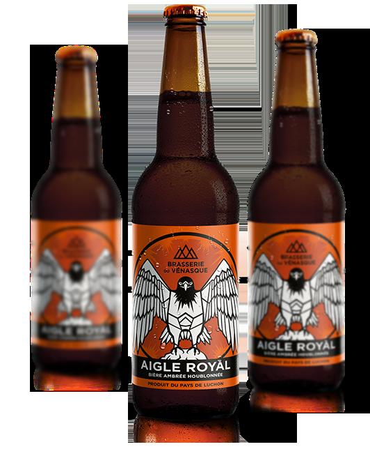 L'Aigle Royal est une bière ambrée houblonnée artisanale de la BRASSERIE DU VENASQUE