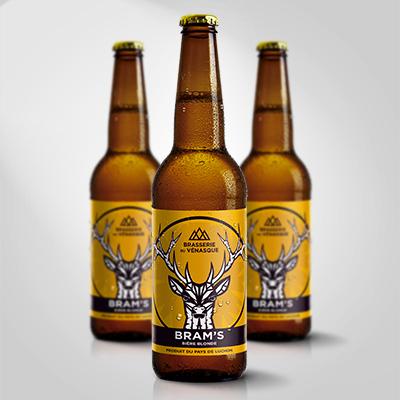 La bram's est une bière blonde artisanle - produit du pays de luchon -BRASSERIE DU VENASQUE