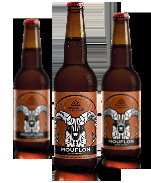 La Mouflon est une bière brune artisanale de la BRASSERIE DU VENASQUE