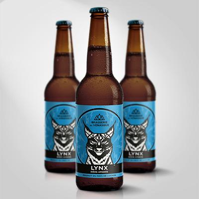 La LYNX est une bière ambrée aromatique douce, aux arômes subtils de malt caramélisé.